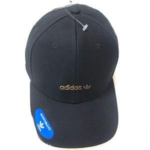 {Adidas} Black + Gold Logo Hat